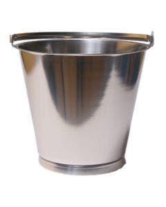Bøtte 10 liter Rustfritt stål