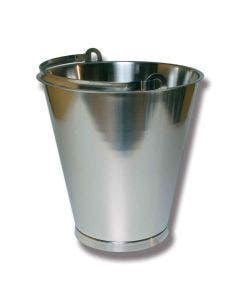 Bøtte 15 liter rustfritt stål
