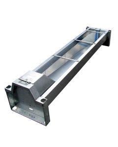 Vanntrau Suevia Med avløp 1400 mm / 100 liter