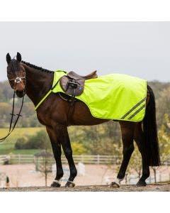 Skrittedekken Hansbo Reflex  ponny neongul lukking frem