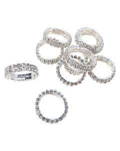 Flätningsband Hansbo Crystal silver 2 cm 2 rader