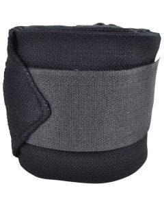 Ridebandasje fleece/elastikk Basic 3,5 m svart