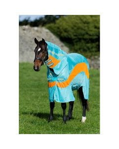 Fluedekken Horseware Amigo Evolution Aqua/Orange