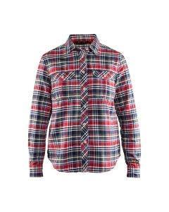 Flanellskjorta Blåkläder Dam Marinblå/Röd