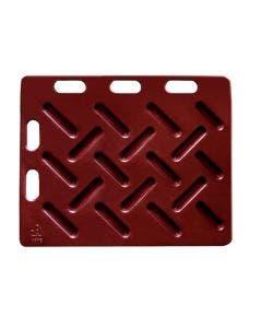 Pådriverplate rød 94 x 76 cm