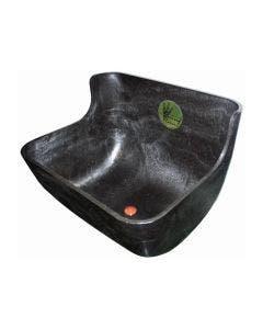 Forkrybbe m/bunnplugg svart 12,5L