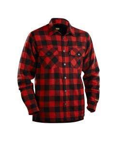 Flanellskjorte Blåkläder Foret Rød/Svart