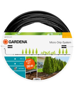 Startsett Gardena for planterekke, 50 m Inkl Trykkreduksjon