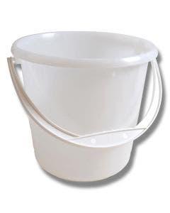 Bøtte 5 liter hvit