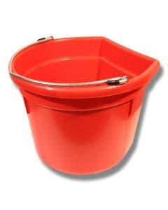 Bøtte flat side 20 liter Rød