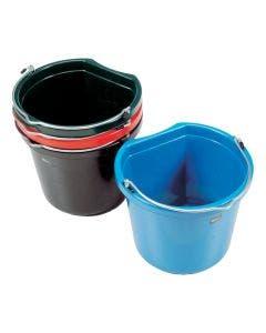 Bøtte flat side svart 12 liter
