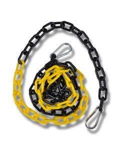 Plastkjetting  2 m svart/gul
