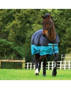 Regndekken Horseware Mio Turnout Lite Svart/Turkis