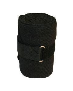 Ridebandasje elastisk svart 2,3 m x 10 cm
