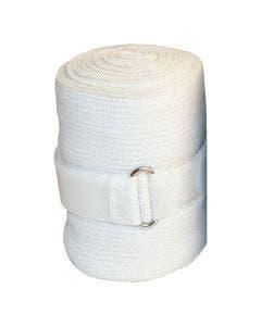 Ridebandasje elastisk hvit 2,3 m x 10 cm
