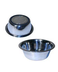Hundeskål Skål Rostfri Gummilist Undertill 2,0 L