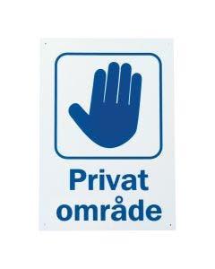 "Skilt ""Privat Område"""