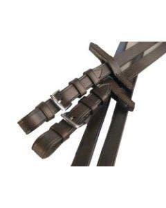 Lærtøyle slett Classic Med stålspenne Brun