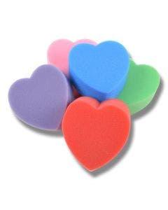 Svamp Hjerte 10pk mixede farger