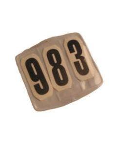 Startnummer firkantet