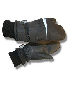 Handsker Trefingervante Svart