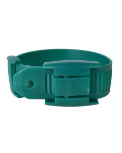 Leggbånd plast grønn 5pk