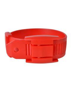 Leggbånd plast rød 5pk
