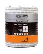 Gallagher Elbånd 20mm Powerline Hvit 200 m